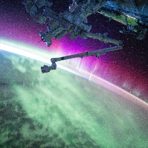 Aurora as seen from space