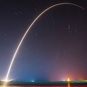 rocket launch trail