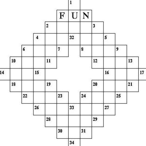 Image of first crossword from NY World.