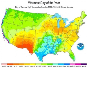 Warmest Day Year